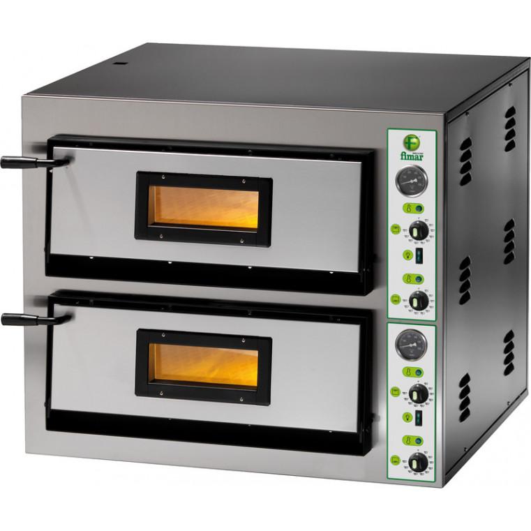FOUR A PIZZA ELECTRIQUE FME 4+4 INOX MONOPHASE