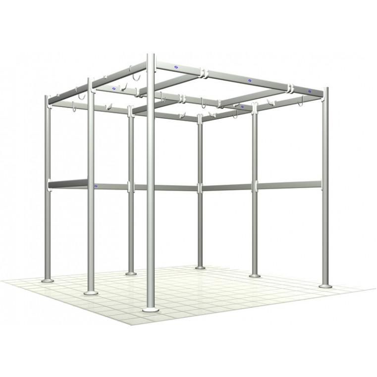 Portique à viande 2700 x 1200 x H 2130 mm en aluminium