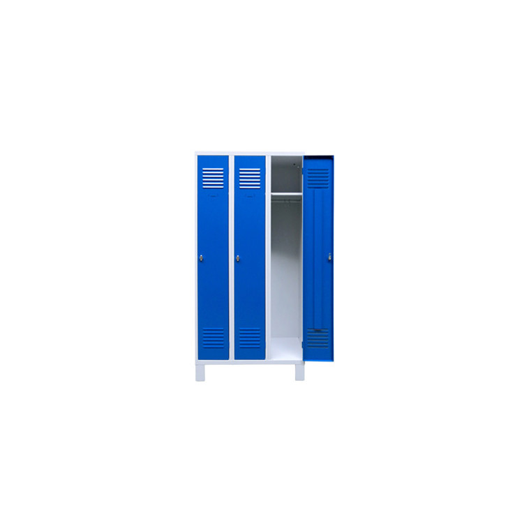 Vestiaire sur pieds IP 3 cases - conf. NF 65-760