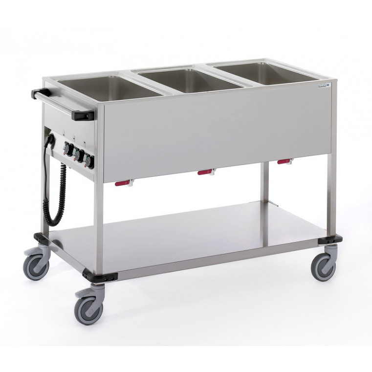 CHARIOT BAIN-MARIE 3 CUVES